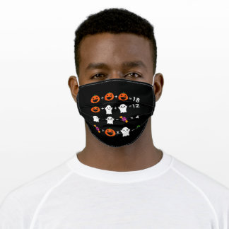 Halloween Counting Adult Cloth Face Mask