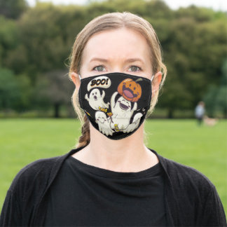 Halloween Ghosts Adult Cloth Face Mask