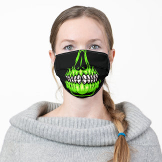 Halloween • Green Skull • Face Mask