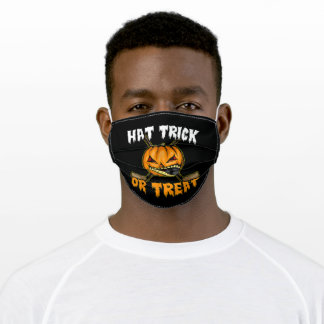 Halloween Hockey Hat Trick Or Treat Adult Cloth Face Mask