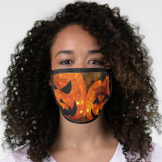 Halloween Orange lantern pumpkins Face Mask