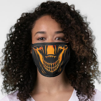 Halloween scary Orange skull face mask