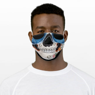 Halloween sugar skull adult cloth face mask