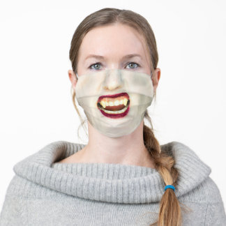 Halloween Vampire Woman Adult Cloth Face Mask