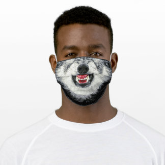 Halloween Wolf Adult Cloth Face Mask