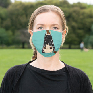 Hanging bat adult cloth face mask