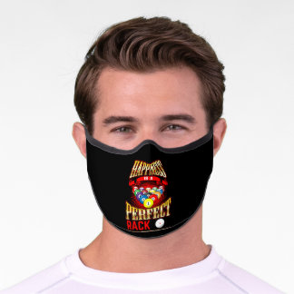 Happiness Is A Perfect Rack Pool Player Billiards Premium Face Mask