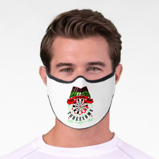 Happiness Is A Tight Threesome Darts Player Premium Face Mask