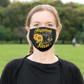 Happiness Is Being A Sunflower Nana Adult Cloth Face Mask
