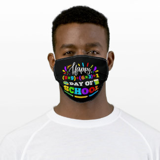 Happy 100 days of School Teacher or Student Adult Cloth Face Mask