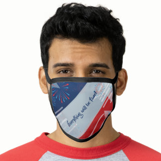 Happy 4th July Independence day USA Flag Patriotic Face Mask