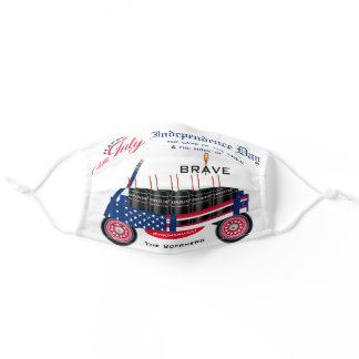 Happy 4th of July Independence Day Funny Patriotic Adult Cloth Face Mask