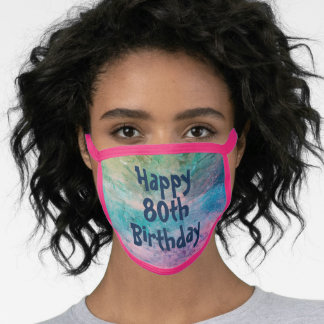 Happy 80th birthday face mask by dalDesignNZ