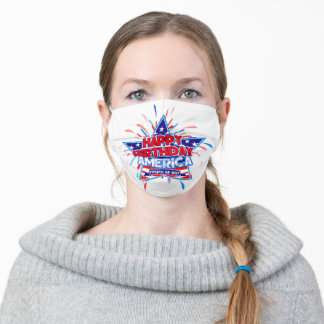Happy Birthday America ( 4th of July ) Adult Cloth Face Mask