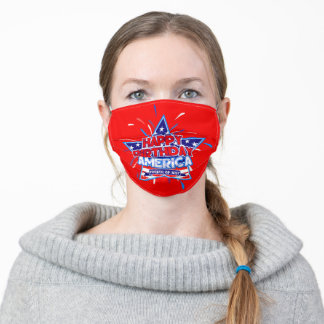 Happy Birthday America ( 4th of July ) Face Mask