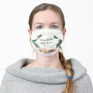 Happy Camper Baby Shower Face Mask