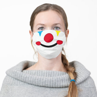 Happy Clown Face Adult Cloth Face Mask