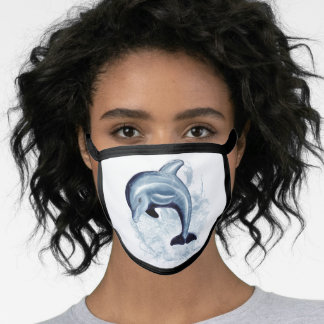 Happy Dolphin All-Over Print Face Mask