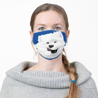 Happy Face Samoyed Face Mask--Non-medical Grade Adult Cloth Face Mask