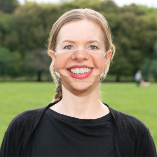 Happy Face - Smile - Add Your Special Photo Funny Adult Cloth Face Mask