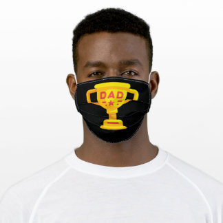 Happy Father's Day Trophy Adult Cloth Face Mask