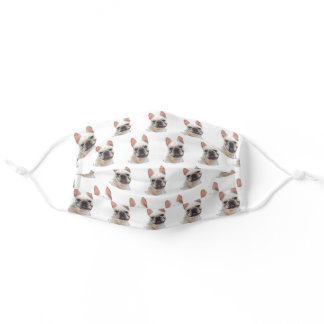 Happy French Bulldog face mask cover