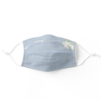 Happy Holidays snowflakes n flower washable covid Adult Cloth Face Mask