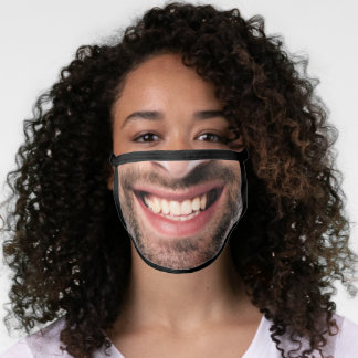 Happy Laughing Big Man Face - Add Your Photo Funny Face Mask