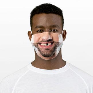 Happy Laughing Man Face - Add Your Photo - Funny Adult Cloth Face Mask