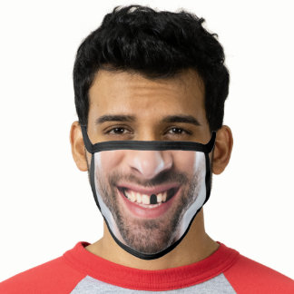 Happy Laughing Man Face - Funny - Add Your Photo - Face Mask