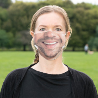 Happy Man Face - Funny - Smile - Add Your Photo Adult Cloth Face Mask
