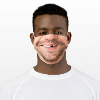Happy Man Face - Smile - Add Your Photo - Cool Adult Cloth Face Mask