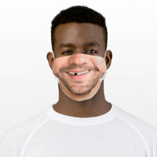 Happy Man Face - Smile - Add Your Photo - Nice - Adult Cloth Face Mask