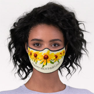 Happy Mother's Day Black-Eyed Susan Photo Premium Face Mask