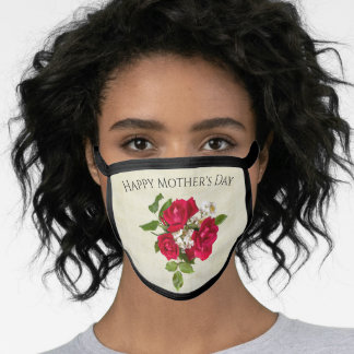 Happy Mother's Day Red Rose Bouquet | Love Face Mask