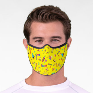 Happy Purim Festival Kids Party Gifts Pattern Premium Face Mask