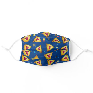 Happy Purim Festival Party Hamantaschen cookies Adult Cloth Face Mask