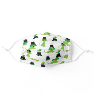 Happy St. Patrick's Day | Cats, Dogs & Birds Adult Cloth Face Mask