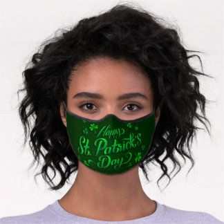 Happy St Patrick's Day Premium Face Mask
