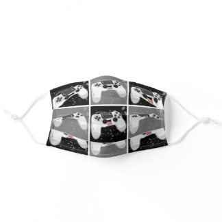 Happy & Sweaty Video Game Controller Adult Cloth Face Mask