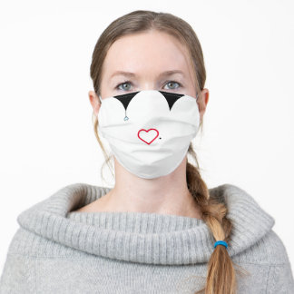 Harlequin Mime Adult Cloth Face Mask