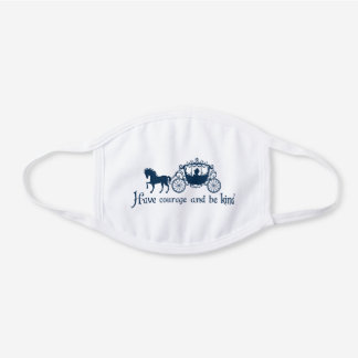 have courage and be kind white cotton face mask