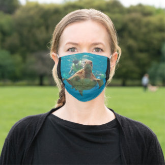 Hawaii turtle adult cloth face mask