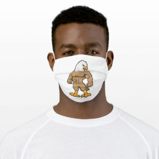 Hawk as Bodybuilder with Six pack Adult Cloth Face Mask