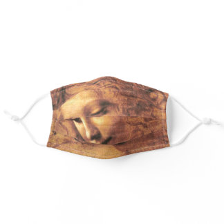 Head of a Woman La Scapigliata Leonardo Da Vinci Adult Cloth Face Mask