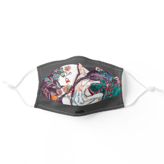 Heal with Our Mother Dark Grey Adult Cloth Face Mask