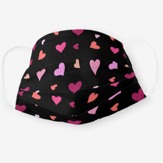 Heart Pattern Cloth Face Mask