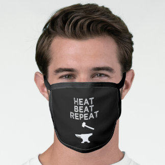 Heat Beat Repeat Funny Blacksmithing Face Mask