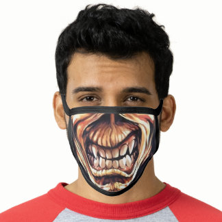 Heavy Metal Zombie Monster Scary Skull Teeth Face Mask
