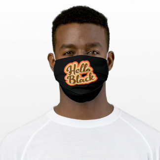 Hella Black Retro Vintage Style Graphic Girls Adult Cloth Face Mask